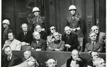 Nuremberg trials defendants in the dock 1945 e1542148789980